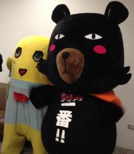 ふなっしーとOh!Bearが夢の共演(写真提供:台湾観光局)