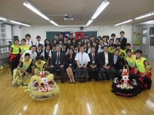 訪日研修団と横浜中華学校高校生ら