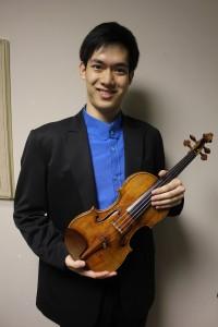 第5回仙台国際音楽コンクール・ヴァイオリン部門の優勝者リチャードリン(林品任)
