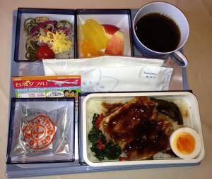 中華航空で伝統的な台湾料理が提供される