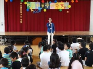 中文營開幕 校長陳雪霞勉勵同學珍惜機會好好學習