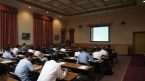 靜岡縣議會日華議員連盟邀請駐橫濱辦事處處長粘信士,以台日關係發展為題做演講