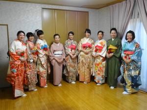 浜田老師精心幫同學們化身和服美人