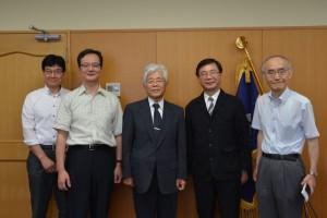台北駐日經濟文化辦事處拜訪山梨縣立大學,希望促進該校與台灣的大學進行學術交流