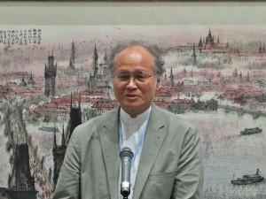 台灣美術院院長廖修平表示希望可以集結台灣各領域美術作家,一起到海外展出代表現代台灣美術的作品