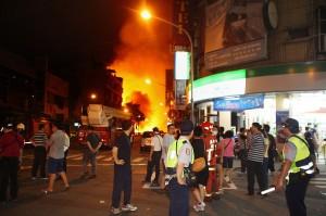 火災により被害は広がった(写真提供:中央社)