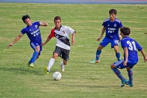 台中市FCと琉球代表の試合の様子(写真提供:PdH株式会社)