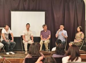中孝介(左2)出席活動和大家分享參與台灣電影原聲帶演唱的經驗