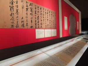 東博特別訂製展示櫃,讓蘇東坡的《寒食帖》可以全軸展示,這也是《寒食帖》時隔91年再度重返東京