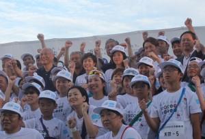 謝依旻さんが「未来への道1000キロ縦断リレー」に参加