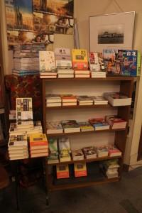 「旅の本屋のまど」には台湾関連の書籍が数多く取り扱われていた