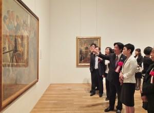 身為台南女兒的日本參議員蓮舫和台南市長賴清德一起觀看展覽