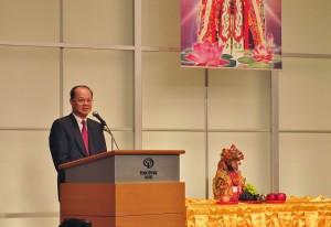 駐日代表沈斯淳出席致詞感謝東京媽祖廟為僑界的付出