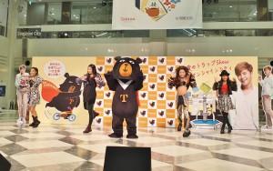 台灣觀光局超級組長喔熊和日本美少女團體J☆Dee'Z表演