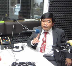 台北駐福岡経済文化弁事処の戎義俊処長が、福岡のラジオ番組にゲスト出演