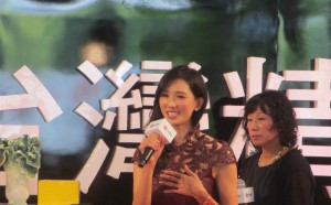 トークショーを行う林志玲さん