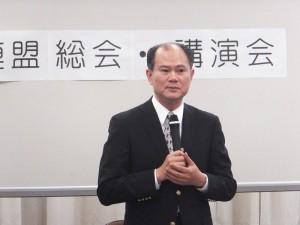 駐橫濱辦事處處長粘信士在橫濱市議會中談台日發展關係