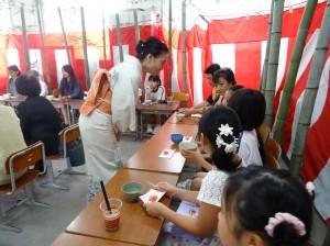 茶道體驗教室 濱田老師與同學們交流