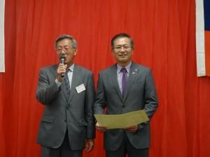 陸會長感謝中華航空對該會參加神戶祭慷慨贊助經費