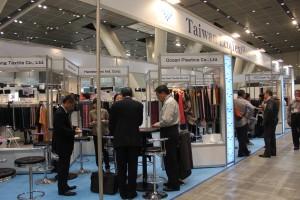 JFW Japan Creation(繊維総合見本市)に出展した「Taiwan Eco Textiles」ブース