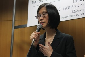 台湾紡織業拓展会の副秘書長兼市場開発処処長の楊暁琴さん
