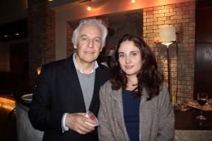 以前より親交のあるギルバート・ヴァルガ(左)とアンナ・ヴィニツカヤ(右)