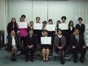 全體參與比賽的同學和與會賓客合影(照片提供:日本航空)