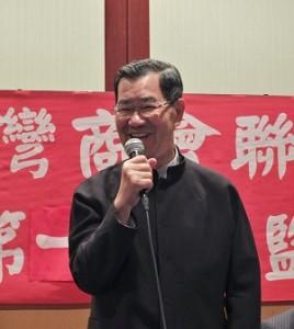 前副總統蕭萬長在私人訪日行程中,抽空和日本台商交流,再現「微笑老蕭」的招牌笑容