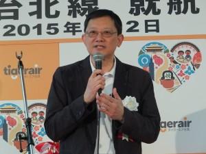 タイガーエア台湾の關栩CEO