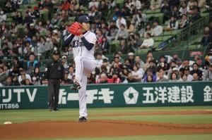 今シーズンからライオンズでプレーしている台湾出身の郭俊麟投手