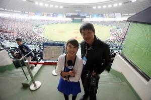 日本の球場にて