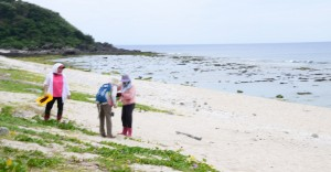 台湾の海岸も散策した
