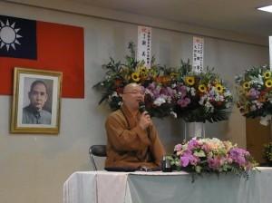 心保和尚抵日談「佛法在人間」,向僑民弘法