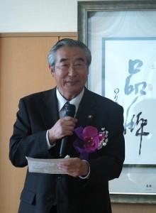 渋川市市長阿久津貞司致詞