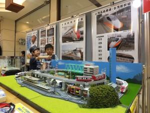 久里浜駅ウィング4階では台鉄についての展示も行った