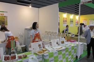 台湾でも注目を集める米粉パンのブース