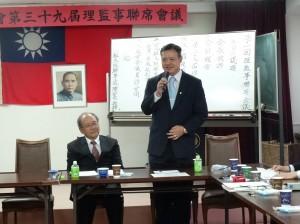 組長陳敏永感謝大阪中華總會來對僑務工作的協助