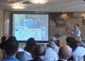 建築師荒尾博專題演講地震議題,並介紹台灣所處的地震帶