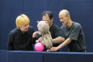 台湾での公演を見据えて展開する福岡県の劇団NPO法人「劇団道化」が稽古公開