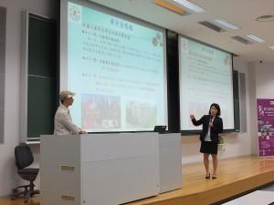 法政大学の外濠校舎にて、台湾の大学によるプレゼンテーションの様子