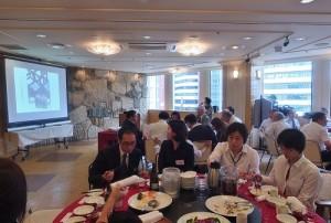 會中展示國建會日本聯誼會近年舉辦活動的照片
