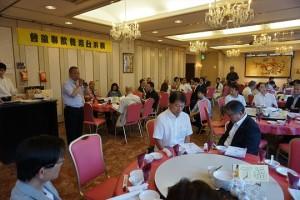 橫濱台灣餐飲聯誼會會長張志銘致詞感謝台日友人長年的支持