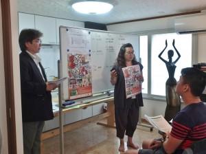 由主辦單位向參展者說明活動主旨,並介紹活動海報