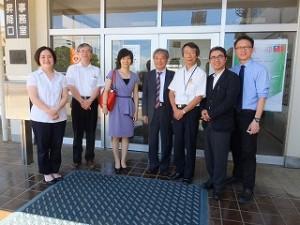 台湾の4大学教授らが草加高校を訪問