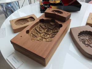 展示された沅豊食品木型店の「ケーキ菓子の金型」