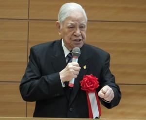 日本の国会議員約300人を前に講演した台湾の李登輝元総統