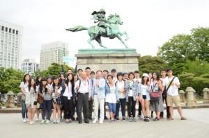 研修團一行也趁日本企業參訪之餘,到日本著名的景點觀光,如皇居、明治神宮等地參觀