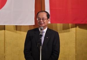 駐日代表沈斯淳致詞感謝在日僑界支持政府,並為台日關係盡心盡力
