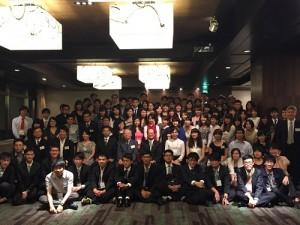 駐日代表處舉辦歡迎晚會,招待近百位參加第10屆台日學生會議活動學生