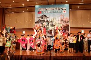 石川台灣華僑總會於8月8日晚間,亦帶著電音三太子出席「台日交流高峰會in金澤」的歡迎晚宴